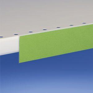Profili porta prezzi piegati per etichetta altezza 38 mm