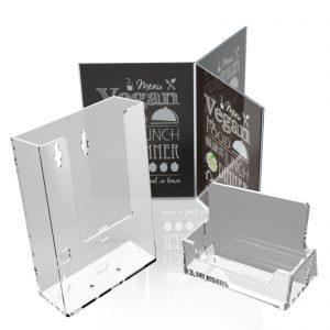 8-Porta brochures e porta messaggi
